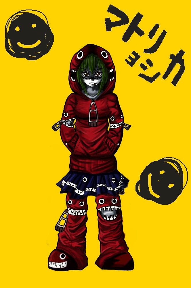 Tags: Anime, VOCALOID, GUMI, Smiley Face, Artist Request, Fanart, Matryoshka