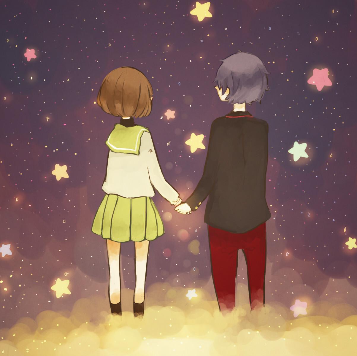 Картинки с мальчиком и девочкой держатся вместе за руку, пожеланиями
