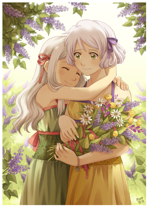 Открытки аниме маме