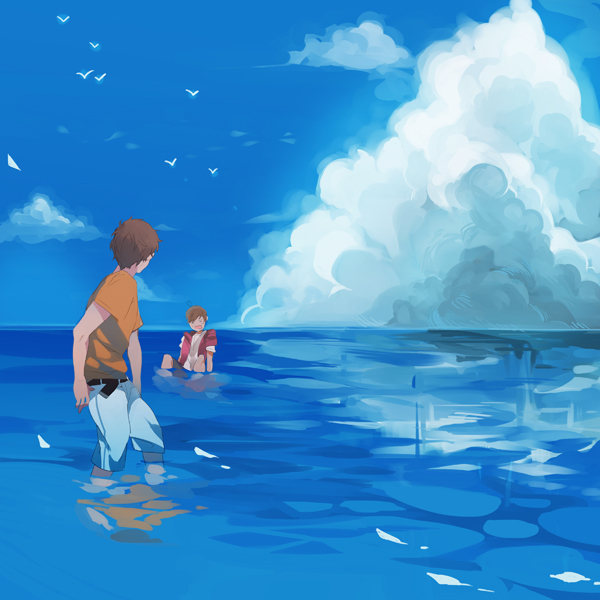 Tags: Anime, Sousou (Artist), Axis Powers: Hetalia, Spain, South Italy, Sitting In Water, Mediterranean Countries