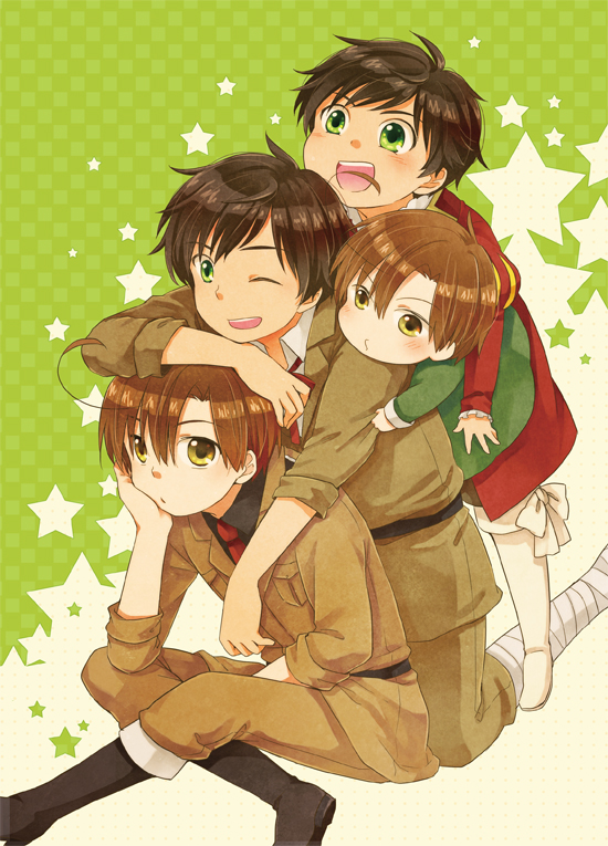 Tags: Anime, Rinko Sky, Axis Powers: Hetalia, Chibimano, South Italy, Spain, Mobile Wallpaper, Pixiv, Mediterranean Countries