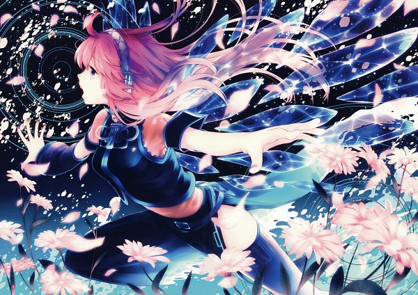 Tags: Anime, Fanart, Vocaloid, Megurine Luka, Scan