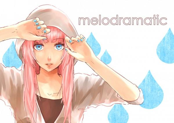 Tags: Anime, Spazzytoaster, VOCALOID, Megurine Luka, Blue Nails