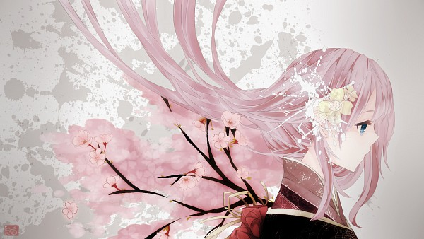 Tags: Anime, Fanart, Vocaloid, Wallpaper, Megurine Luka