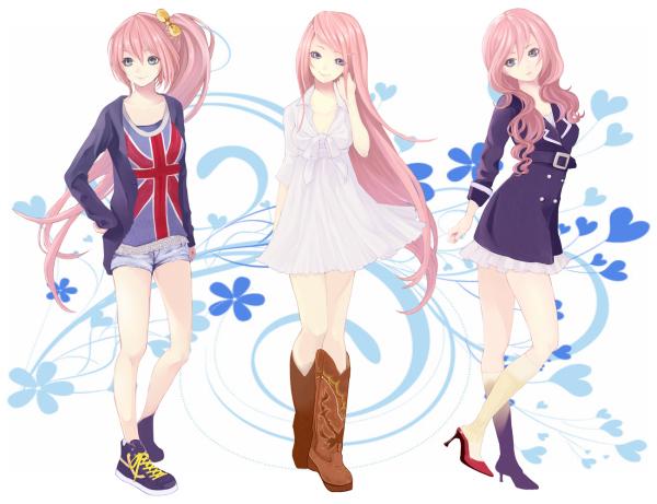 Tags: Anime, Settyaro, VOCALOID, Megurine Luka, Fanart, PNG Conversion