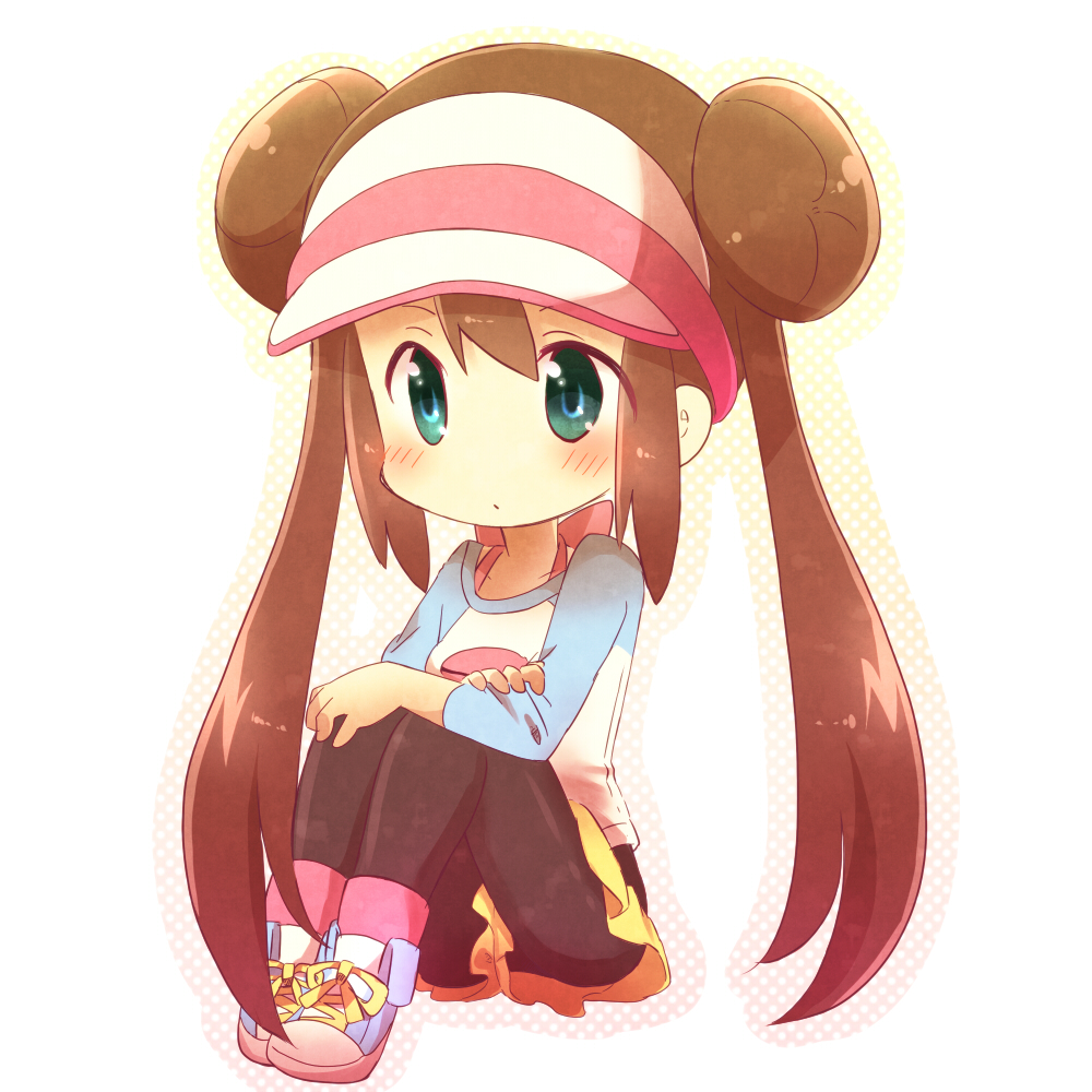 Tags: anime, pokémon, visor, twin buns, yasai, black pantyhose, mei