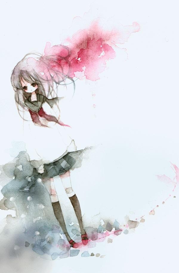 Tags: Anime, Meiko (Pixiv235646), Traditional Media, Pixiv, Watercolor