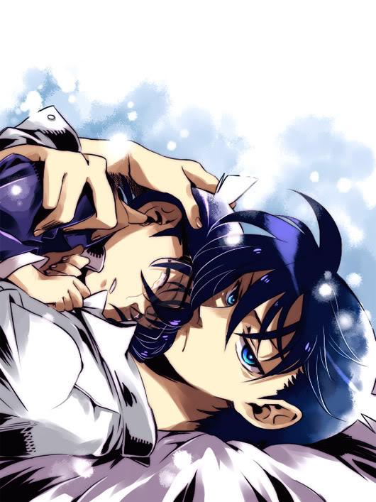 Tags: Anime, Meitantei Conan, Kudou Shinichi, Edogawa Conan, Protecting, Artist Request, Fanart, Detective Conan