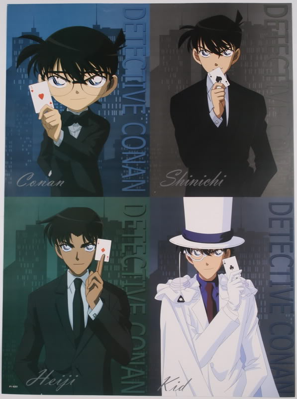 Tags: Anime, Meitantei Conan, Magic Kaito, Edogawa Conan, Kuroba Kaito, Hattori Heiji, Kudou Shinichi, Kaitou Kid, Official Art, Detective Conan