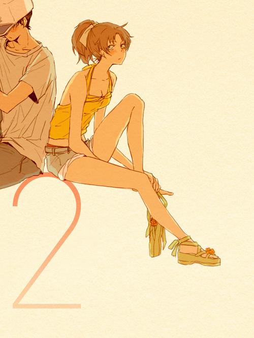 Tags: Anime, Shitai, Meitantei Conan, Touyama Kazuha, Hattori Heiji, Fanart, Pixiv, Detective Conan