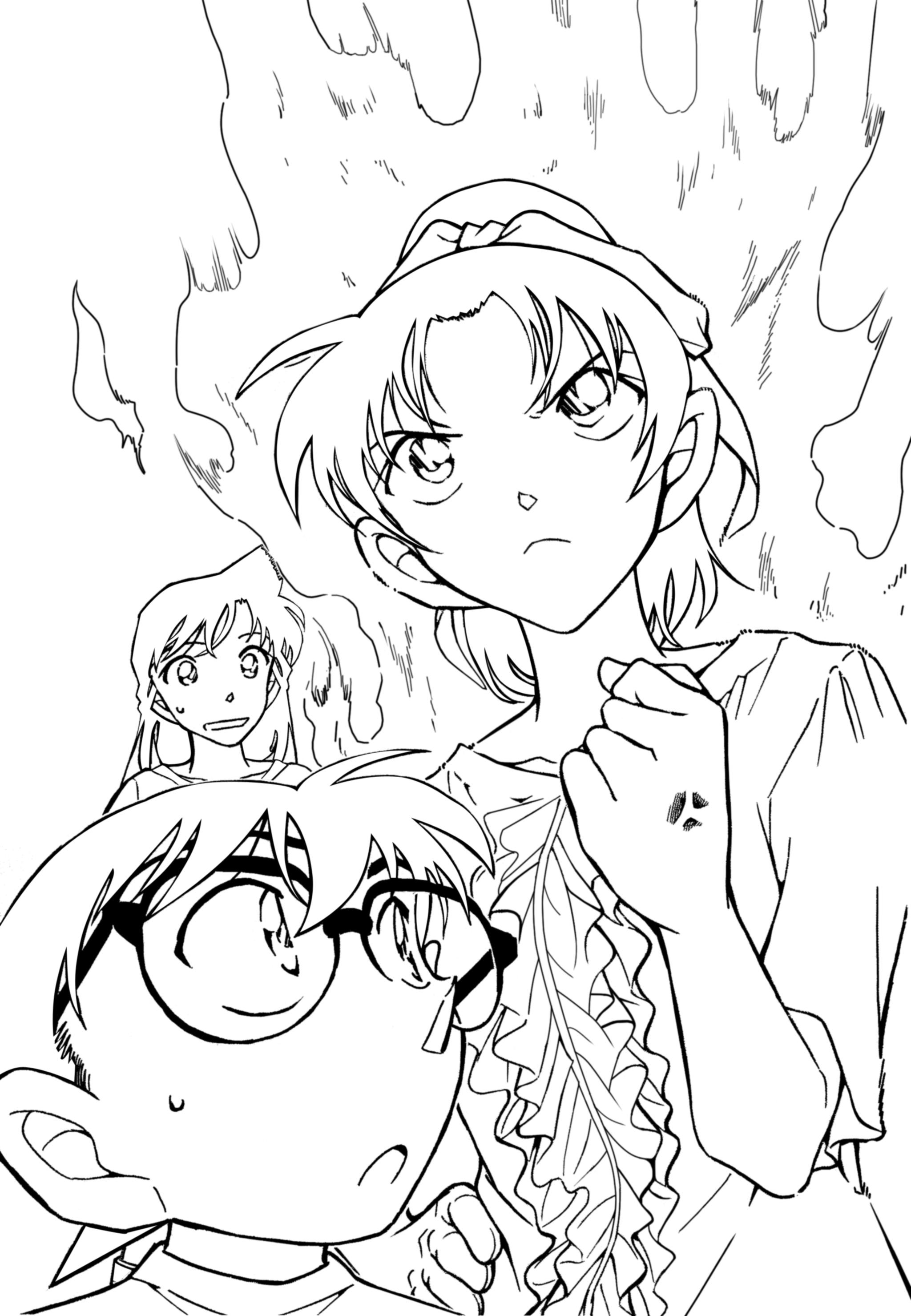 Uncategorized Detective Conan Coloring Pages meitantei conan detective aoyama goushou image 893292 view fullsize image