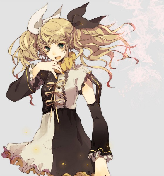 Tags: Anime, Loo, Vocaloid, Kagamine Rin, Asymmetrical Clothing, Alternate Hairstyle