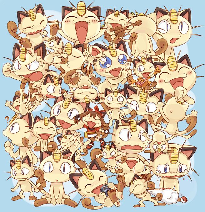 Tags: Anime, Usao (313131), Pokémon, Meowth, Pixiv, Fanart