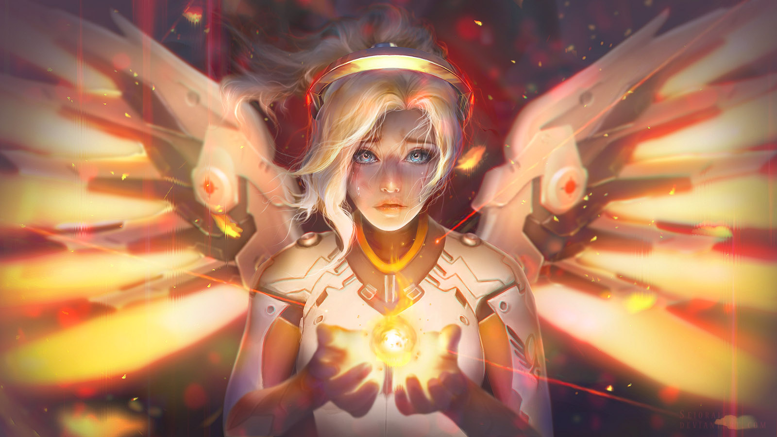 Overwatch mercy art