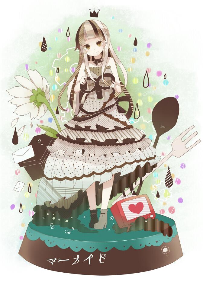 Tags: Anime, Makishimu, VOCALOID, Fan Character, Raindrop (Symbol), Mermaid (Song), PNG Conversion, Mobile Wallpaper, Pixiv