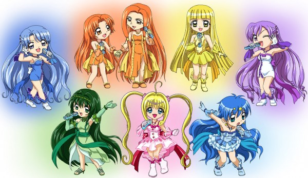 Tags: Anime, Mermaid Melody Pichi Pichi Pitch, Nanami Lucia, Houshou Hanon, Touin Rina, Sara (Mermaid Melody), Seira (Mermaid Melody)