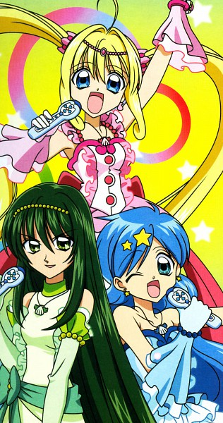 Tags: Anime, Mermaid Melody Pichi Pichi Pitch, Nanami Lucia, Houshou Hanon, Touin Rina, Green Pearl Voice, Pink Pearl Voice