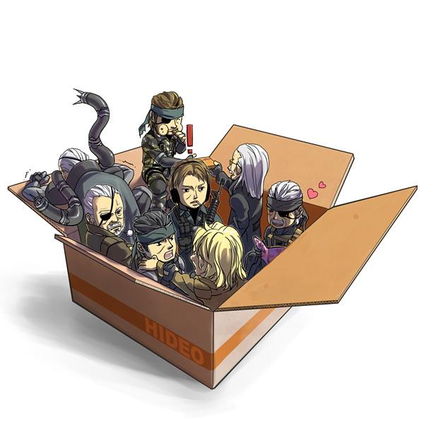 Tags: Anime, Pixiv Id 34685, Metal Gear Solid, Solidus Snake, Liquid Snake, Liquid Ocelot, Revolver Ocelot, Big Boss, Old Snake, Solid Snake