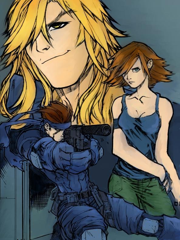 Tags: Anime, Metal Gear Solid, Liquid Snake, Meryl Silverburgh, Solid Snake