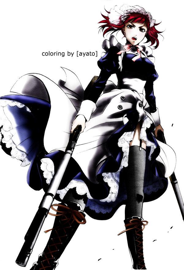 Tags: Anime, Kuroshitsuji, Mey-Rin, Mobile Wallpaper, Colorization