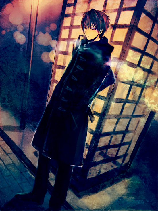 Tags: Anime, Mg (Pixiv4935063), Phone Booth, Duffle Coat, Out of Character, Pixiv, Original