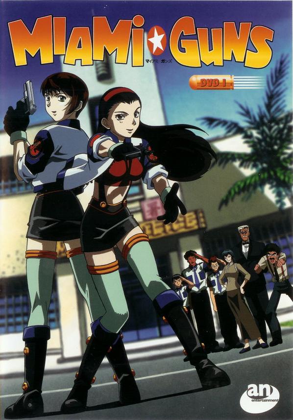 Tags: Anime, Miami Guns, Amano Lu, Sakurakouji Yao, Official Art, Scan, DVD (Source)
