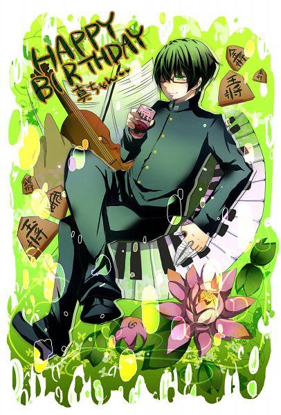 Tags: Anime, Pixiv Id 4433980, Kuroko no Basuke, Midorima Shintarou, Piano Keys, Violin, Can