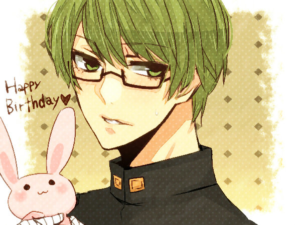 Tags: Anime, Pixiv Id 4343481, Kuroko no Basuke, Midorima Shintarou, Gakuran, Stuffed Rabbit