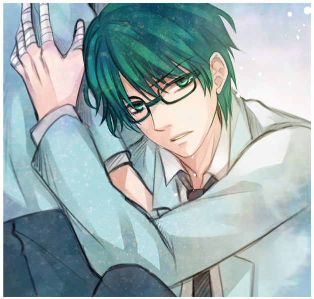 Tags: Anime, Mrsloth, Kuroko no Basuke, Midorima Shintarou, Bandaged Fingers, Pixiv, Fanart, Fanart From Pixiv, deviantART