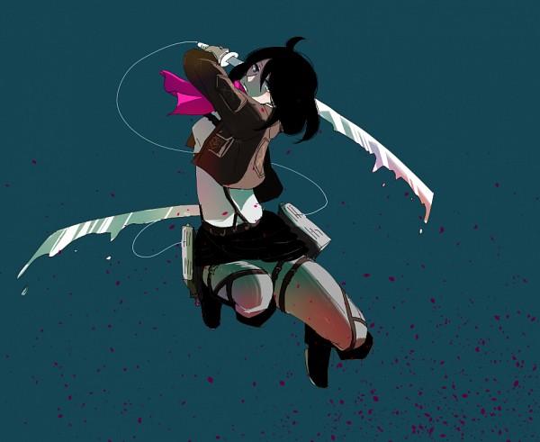 Tags: Anime, Pixiv Id 4100241, Shingeki no Kyojin, Mikasa Ackerman, Three Dimensional Maneuver Gear