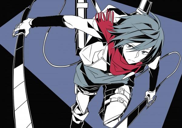 Tags: Anime, Pixiv Id 659074, Shingeki no Kyojin, Mikasa Ackerman, Three Dimensional Maneuver Gear, Blue