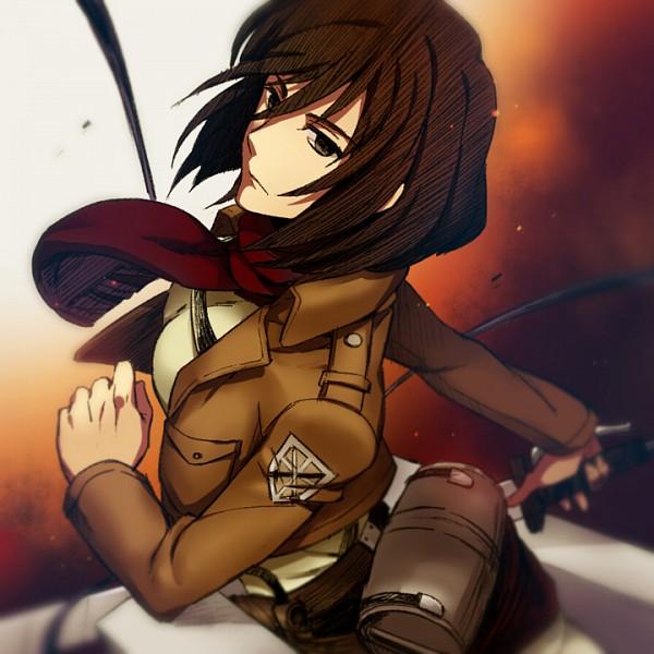 Tags: Anime, Mir (Pixiv1170623), Shingeki no Kyojin, Mikasa Ackerman, Three Dimensional Maneuver Gear