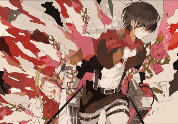 Tags: Anime, Pixiv Id 5086155, Shingeki no Kyojin, Mikasa Ackerman, Three Dimensional Maneuver Gear