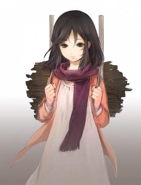 Tags: Anime, Pixiv Id 6306295, Shingeki no Kyojin, Mikasa Ackerman, Expressionless