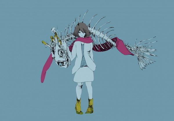 Tags: Anime, Pixiv Id 7122495, Shingeki no Kyojin, Mikasa Ackerman, Bone, Skeleton, Dagger