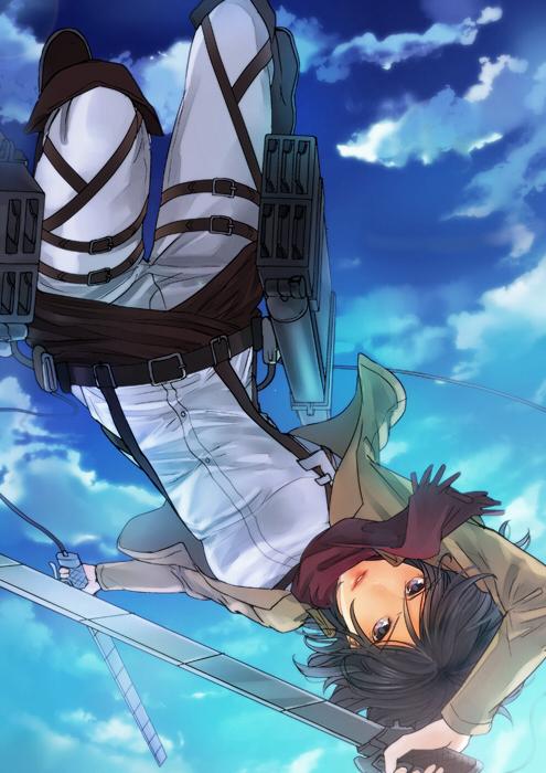 Tags: Anime, Shikiyuri, Attack on Titan, Mikasa Ackerman, Mobile Wallpaper