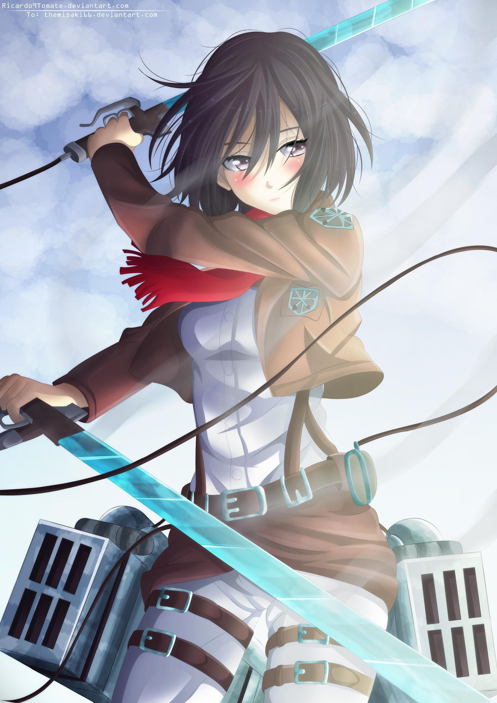 Mikasa Ackerman Attack On Titan Mobile Wallpaper 1554696 Zerochan Anime Image Board