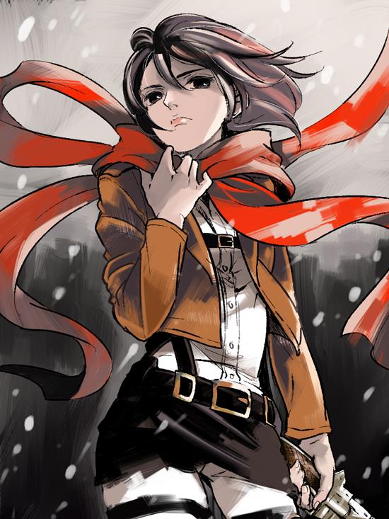 Tags: Anime, Pixiv Id 3035021, Attack on Titan, Mikasa Ackerman, Pixiv