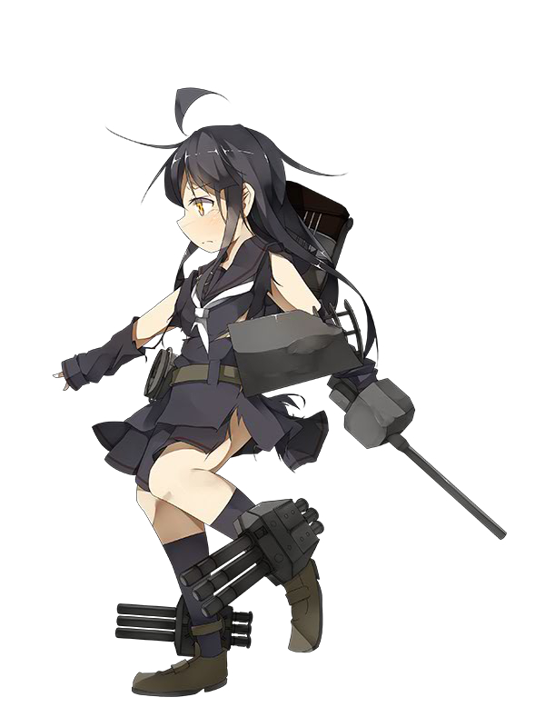 Tags: Anime, And Dokari, Kadokawa Games, Kantai Collection, Mikazuki (Kantai Collection), PNG Conversion, Official Art