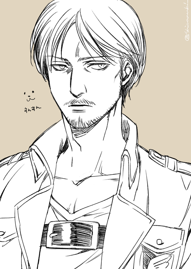 Tags: Anime, Pixiv Id 732682, Attack on Titan, Mike Zacarius, Fanart, Tumblr, Fanart From Pixiv, PNG Conversion, Pixiv