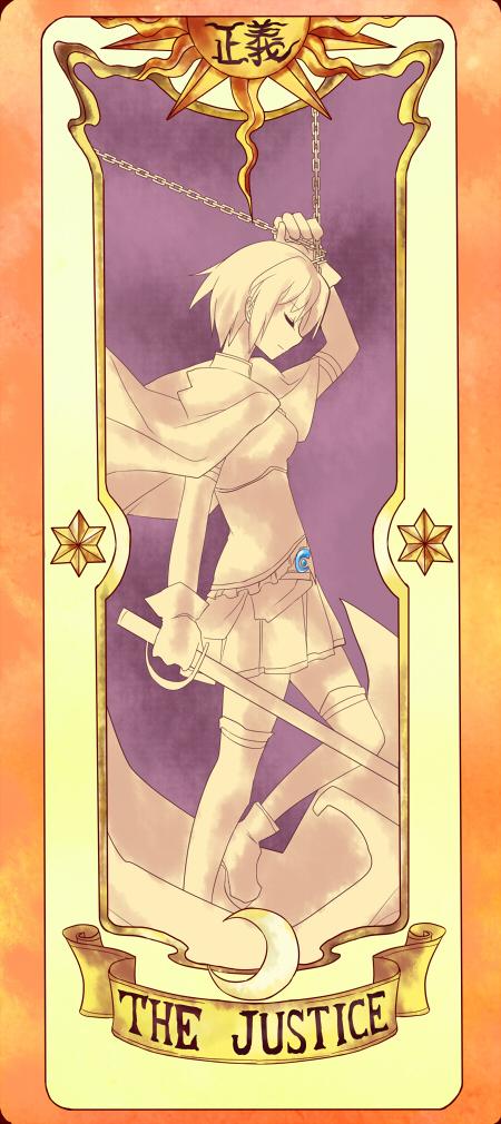 Tags: Anime, Yetworldview Kaze, Cardcaptor Sakura, Mahou Shoujo Madoka☆Magica, Miki Sayaka, Cardcaptor Sakura (Parody), Clow Cards, Fanart, Pixiv