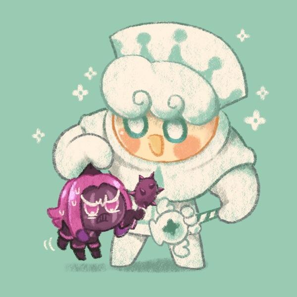 Tags: Anime, Misaki-omoomochiii, Cookie Run: OvenBreak, Cookie Run, Purple Yam Cookie, Milk Cookie, Tumblr, Fanart, Fanart From Tumblr, MilkYam
