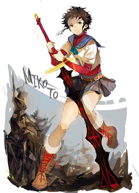 Tags: Anime, Ohna, Mai-hiME, Minagi Mikoto, Pixiv, Sketch, Fanart From Pixiv, Fanart