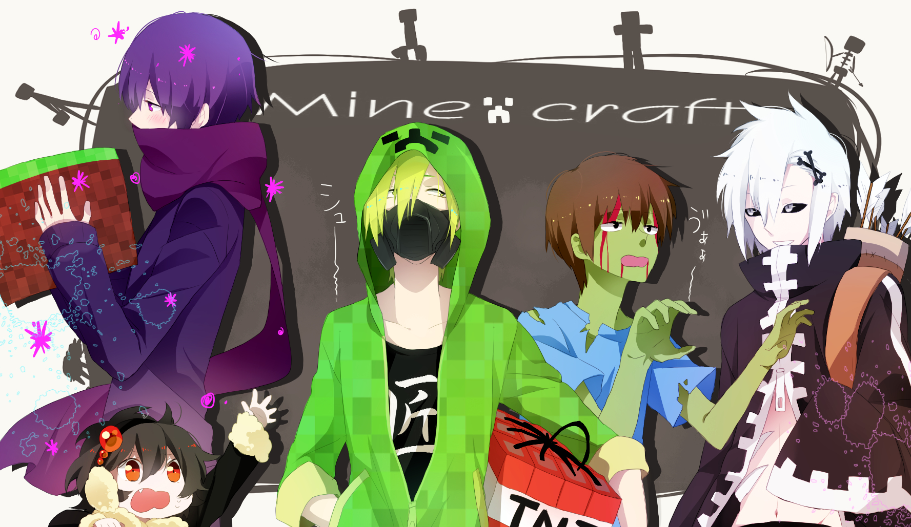 маекрафт картинки аниме