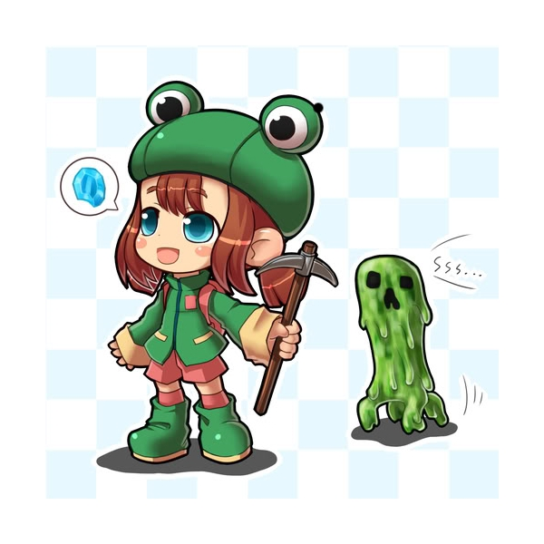 Tags: Anime, Minecraft, Creeper (Minecraft), Rana (Minecraft), Frog Hat