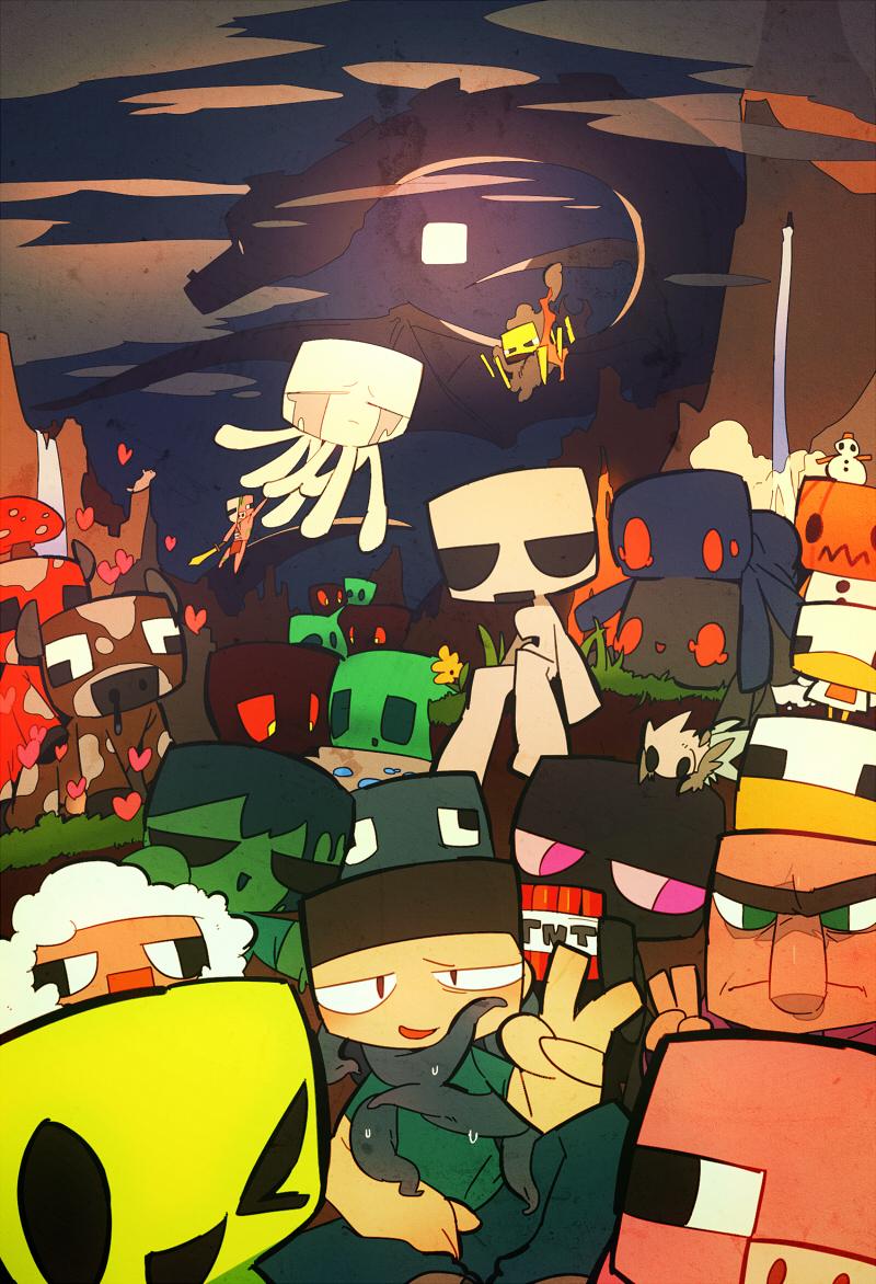 Minecraft Mobile Wallpaper 970868 Zerochan Anime Image Board