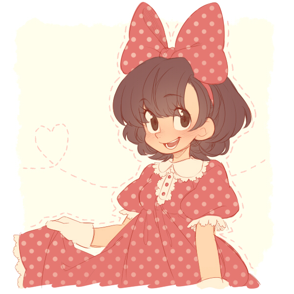 Tags: Anime, Kirita, Disney, Minnie Mouse, Spotted Dress, Red Ribbon, Spotted