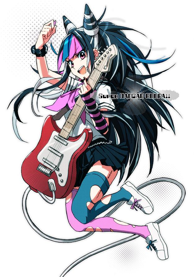 Tags: Anime, Kiriha2929, Super Danganronpa 2, Mioda Ibuki, Torn Thigh Highs, Fanart From Pixiv, Mobile Wallpaper, Pixiv, Fanart