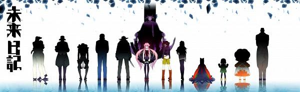 Tags: Anime, hakusai, Mirai Nikki, John Balks, Houjou Reisuke, Uryuu Minene, Amano Yukiteru
