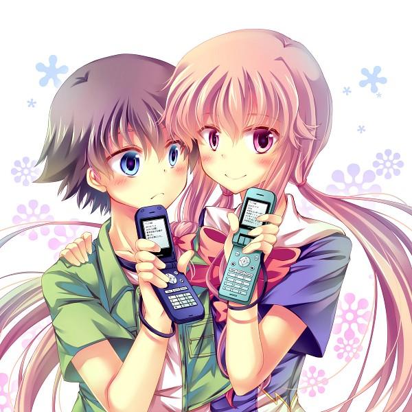 Tags: Anime, Mirai Nikki, Gasai Yuno, Amano Yukiteru, Pixiv Id 885466